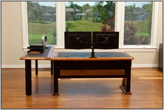 Brilliant Corner Computer Desk For Two Monitors 355 Best Multiple Monitor Pc Desk Images On Pinterest Gaming