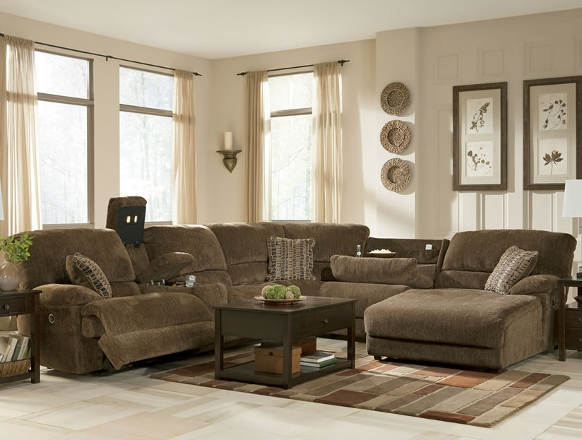 Brilliant Couch With Chaise And Recliner Living Room Sectional Sofa Design Decorative With Chaise And