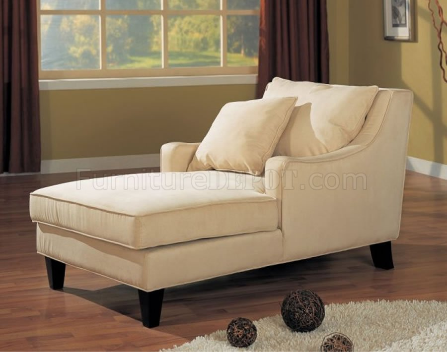 Brilliant Cream Colored Chaise Lounge Cream Microfiber Classic Chaise Lounge Wcappuccino Finish Base