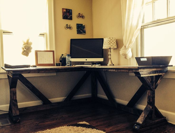 Brilliant Diy Office Desk Plans Diy Corner Desk Using Ana White Fancy X Desk Plan Perfect With A