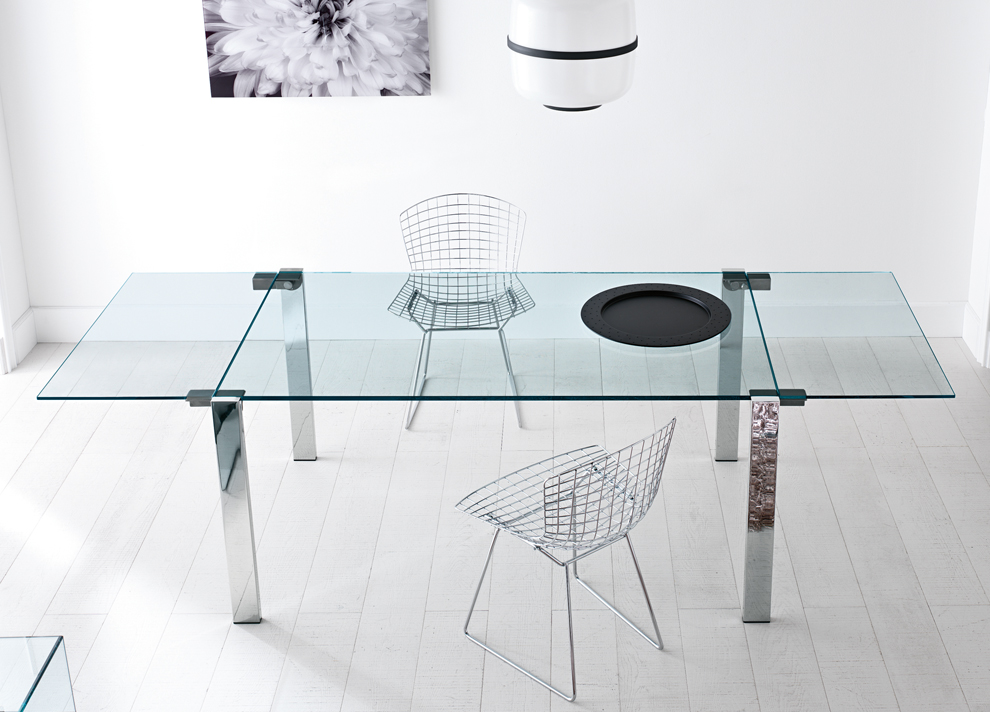 Brilliant Extendable Dining Table Glass Tonelli Livingstone Extending Glass Dining Table Extending Glass