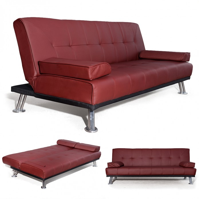 Brilliant Full Size Leather Futon Furniture Fabulous Faux Leather Futon For Living Room Decor