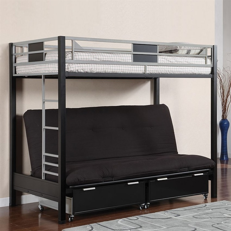 Brilliant Futon Bed With Mattress Included Bedroom Awesome Stylish Futon Bunk Bed With Mattress Included Beds