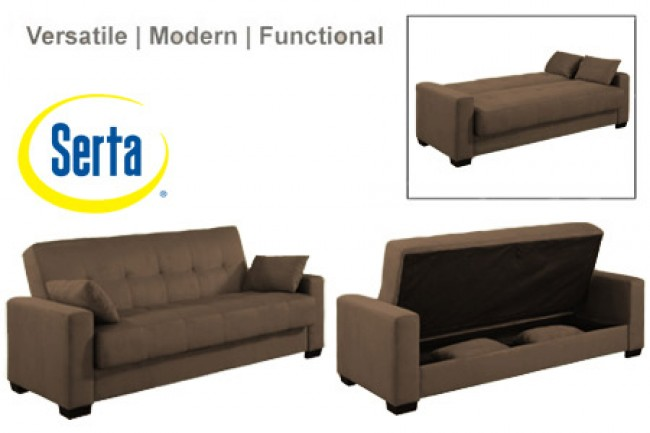 Brilliant Futon Couch Bed With Storage Napa Contemporary Sleeper Futon Bed Brown Sleeper Sofa The