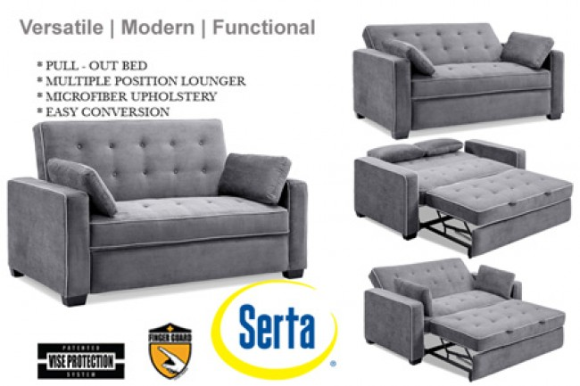 Brilliant Futon Loveseat Sofa Bed Traditional Couch Futon Augustine Grey Sofa Sleeper The Futon Shop