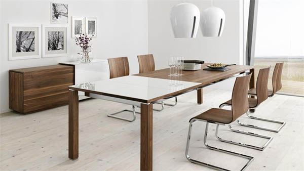 Brilliant Glass Top Modern Dining Table Collection In Glass And Wood Dining Tables And Modern Dining