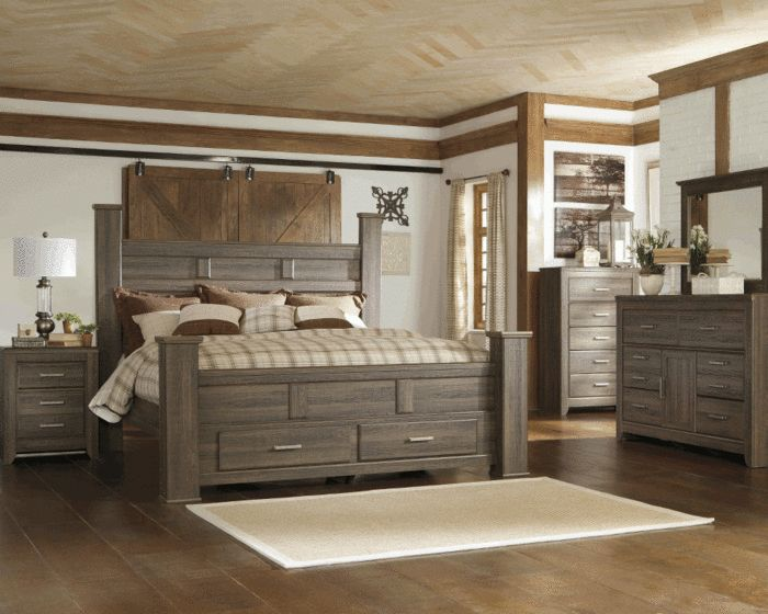 Brilliant Gray Bedroom Furniture Sets Our New King Sized Bed And Night Stands Juararo Poster Storage