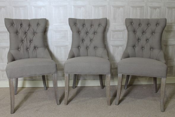 Brilliant Gray Dining Chairs Dining Chair French Style In Mushroom Grey