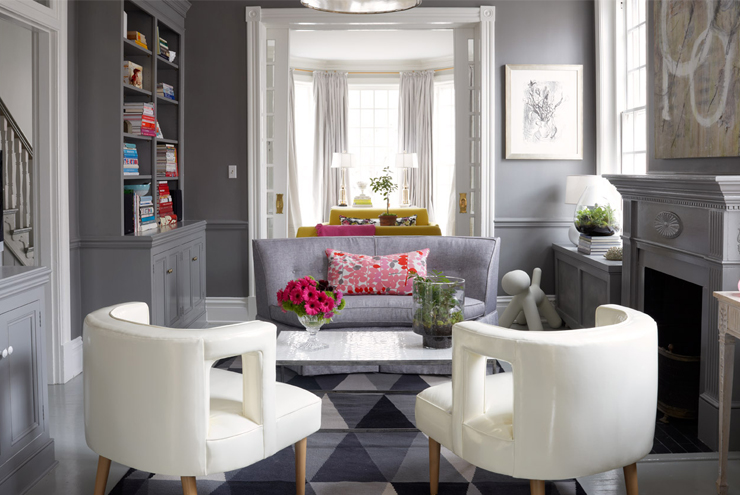 Brilliant Gray Living Room Chairs Gray Walls With Gray Chair Rail Contemporary Living Room