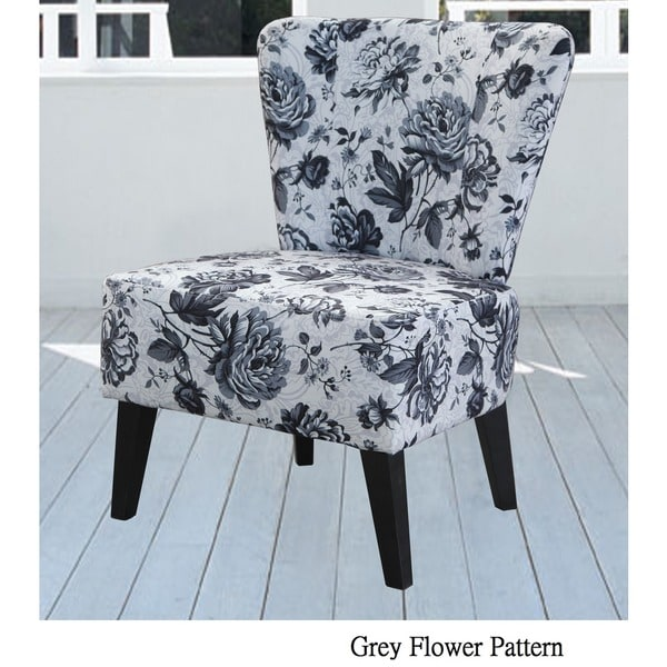 Brilliant Grey And White Accent Chair Alice Fabric Accent Chair Free Shipping Today Overstock