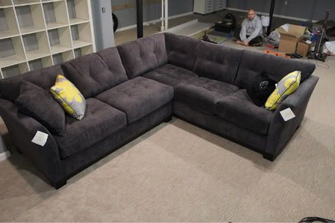 Brilliant Grey Microfiber Sectional With Chaise Charcoal Grey Sectional Sofa Images The Nest Buying A Home