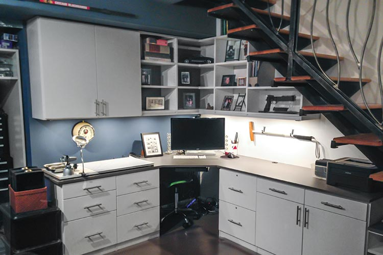 Brilliant Home Office Cabinet Systems Closet Works Home Office Storage Ideas And Organization Systems