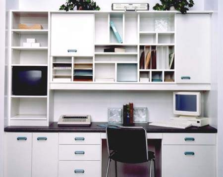 Brilliant Home Office Desk With Shelves Custom Office Desk With Upper Cabinets Traditional Home