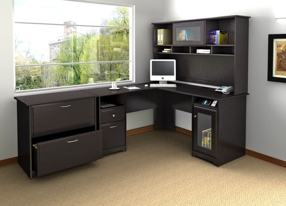 Brilliant Home Office Desk With Shelves Home Office Modular Home Office Furniture Of Black L Shaped Desk
