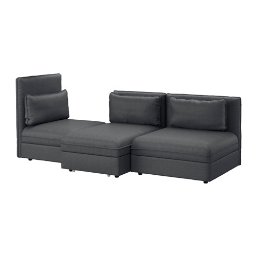 Brilliant Ikea 3 Seater Sofa Bed Vallentuna 3 Seat Sofa With Bed Hillared Dark Grey Ikea
