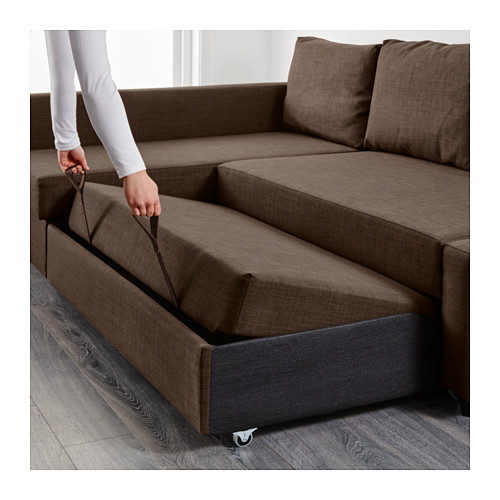 Brilliant Ikea Furniture Sofa Bed Friheten Sleeper Sectional3 Seat Wstorage Skiftebo Dark Gray