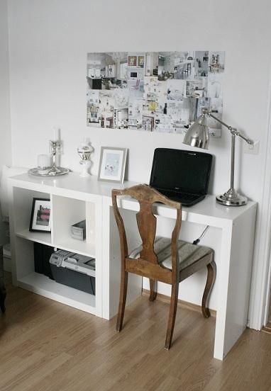 Brilliant Ikea Mini Desk Ikea Small Expedit Plus Hacked Expedit As Desk Via Stylizimo