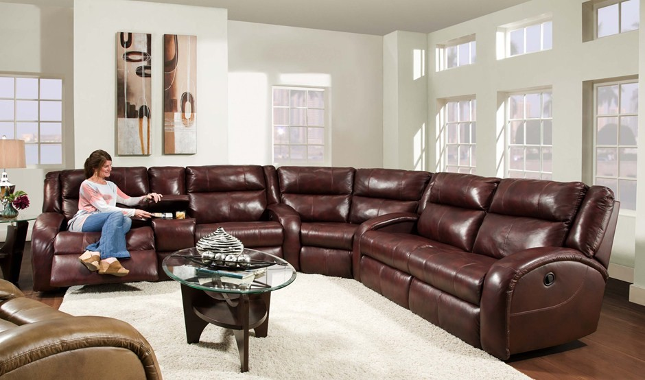 Brilliant Large Leather Sectional Couch Magnificent Reclining Sectionals In Living Room Rustic With Next