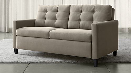 Brilliant Leather Pull Out Sofa Bed Sofa Beds And Sleeper Sofas Crate And Barrel