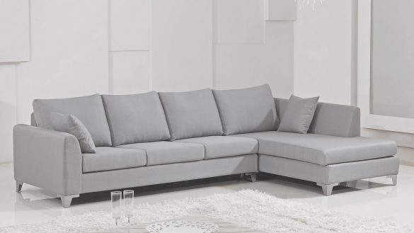 Brilliant Light Grey Sectional Couch Impressive Light Grey Full Italian Leather Modern Sectional Sofa