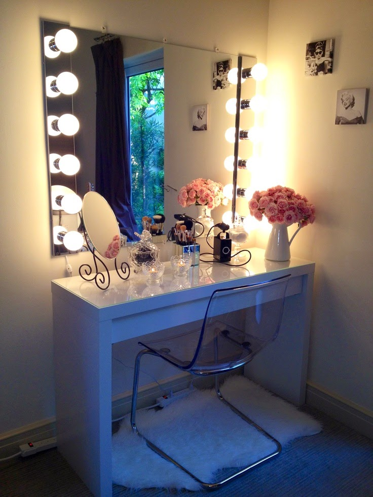 Brilliant Makeup Table And Mirror Brilliant Mirror Vanity Lights Ideas For Making Your Own Vanity