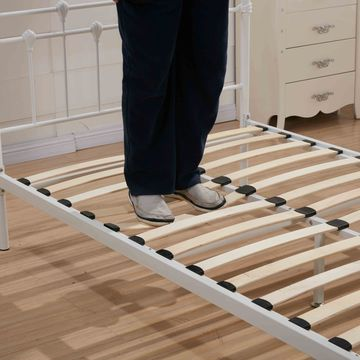 Brilliant Metal Bed Frame Slats China Modern Queen Size Double Metal Bed Frame With Wood Slats On