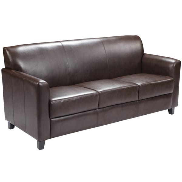 Brilliant Modern Brown Leather Sofa Benville Modern Brown Leather Sofa Free Shipping Today