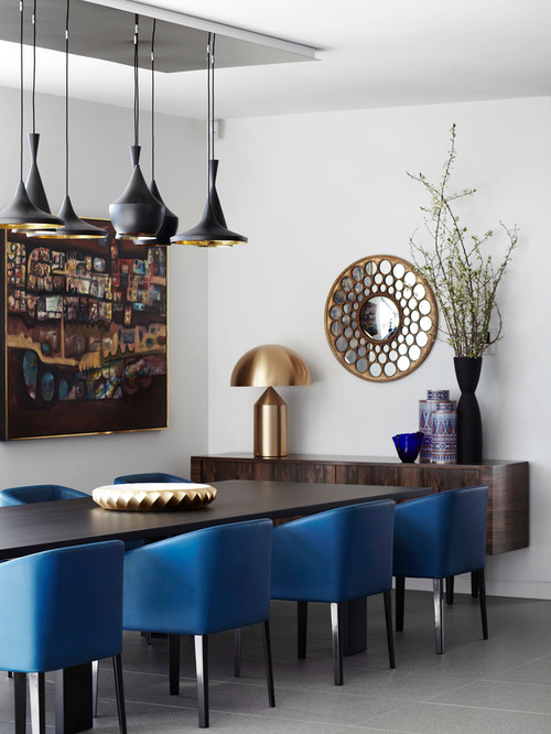 Brilliant Navy Blue Leather Dining Chairs Inspiring Upholstered