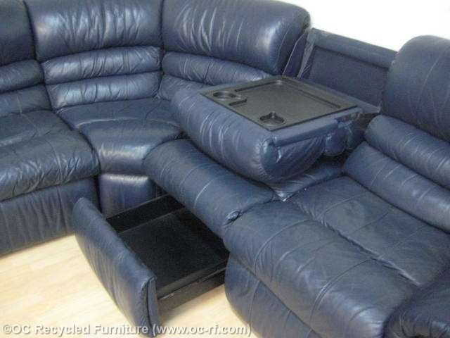 Brilliant Navy Blue Reclining Sofa Navy Blue Recliner Sectional Sofa Used Furniture Recycled Couches