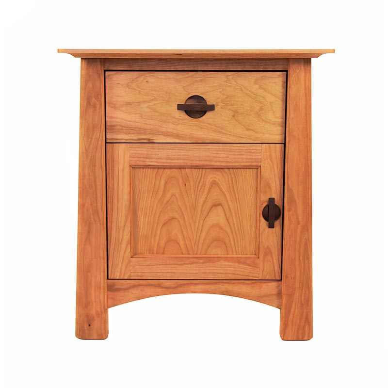 Brilliant Nightstand With Door And Drawer Cherry Moon 1 Drawer Night Stand With Door Bedroom Solid Wood