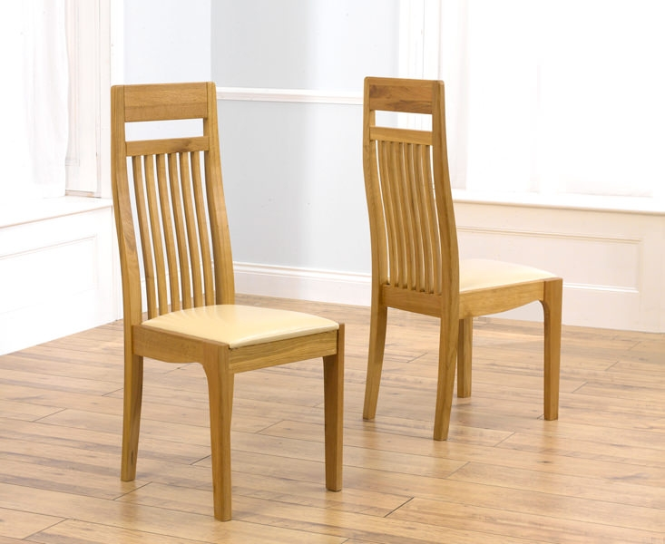 Brilliant Oak Dining Chairs Buy Mark Harris Monte Carlo Oak Dining Chair Cream Leather Seat