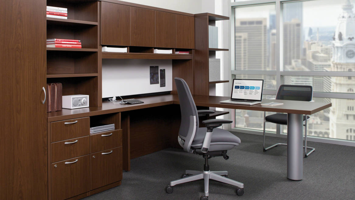 Brilliant Office Desk With Storage Payback Office Desks Storage Solutions Steelcase