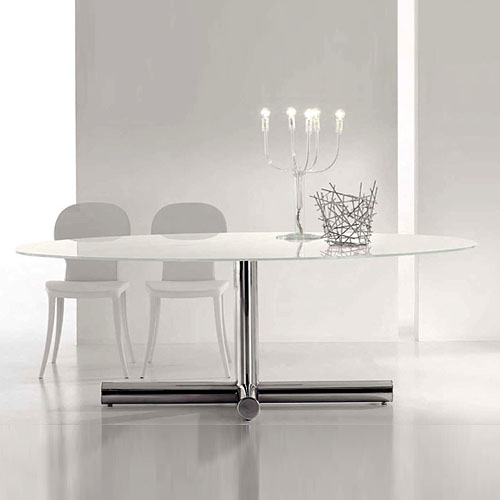 Brilliant Oval Modern Dining Table Bonaldo Surfer Modern Oval Dining Table Giuseppe Vigano Stardust