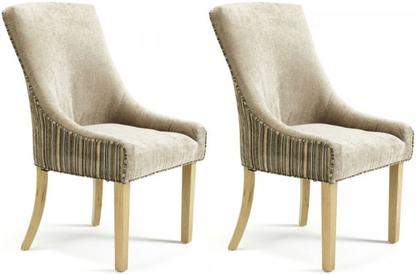 Brilliant Pair Of Dining Chairs Serene Richmond Dining Chairs In Minksand Pair
