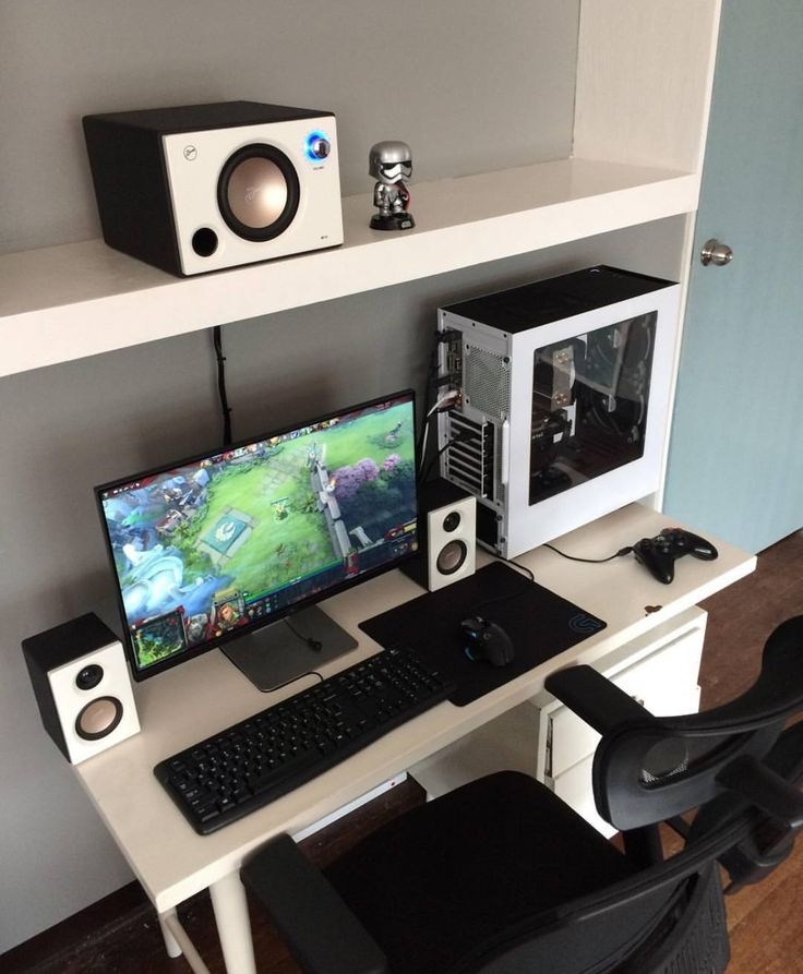 Brilliant Pc Desk Setup Best Computer Desk Setup Ideas Marvelous Home Design Ideas With