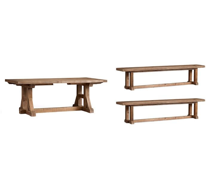 Brilliant Pine Dining Chairs Stafford Reclaimed Pine Extending Table Bench 3 Piece Dining Set