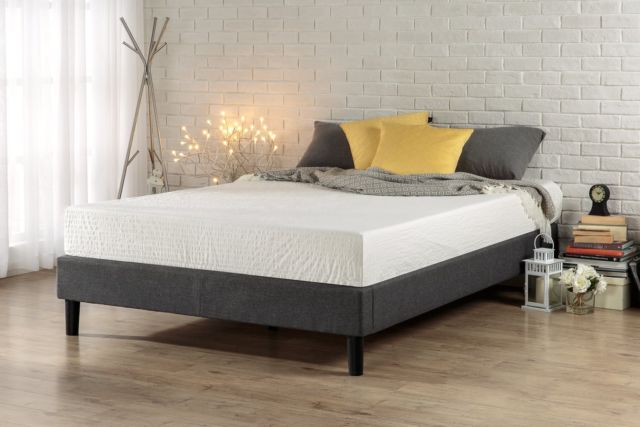 Brilliant Queen Bed Foundation Box Zinus Essential Upholstered Platform Bed Frame Mattress Foundation