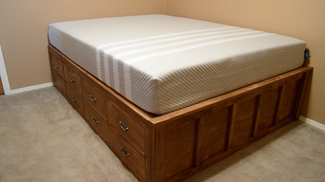 Brilliant Queen Size Box Frame Diy Queen Bed Frame With Drawer Storage Wilker Dos