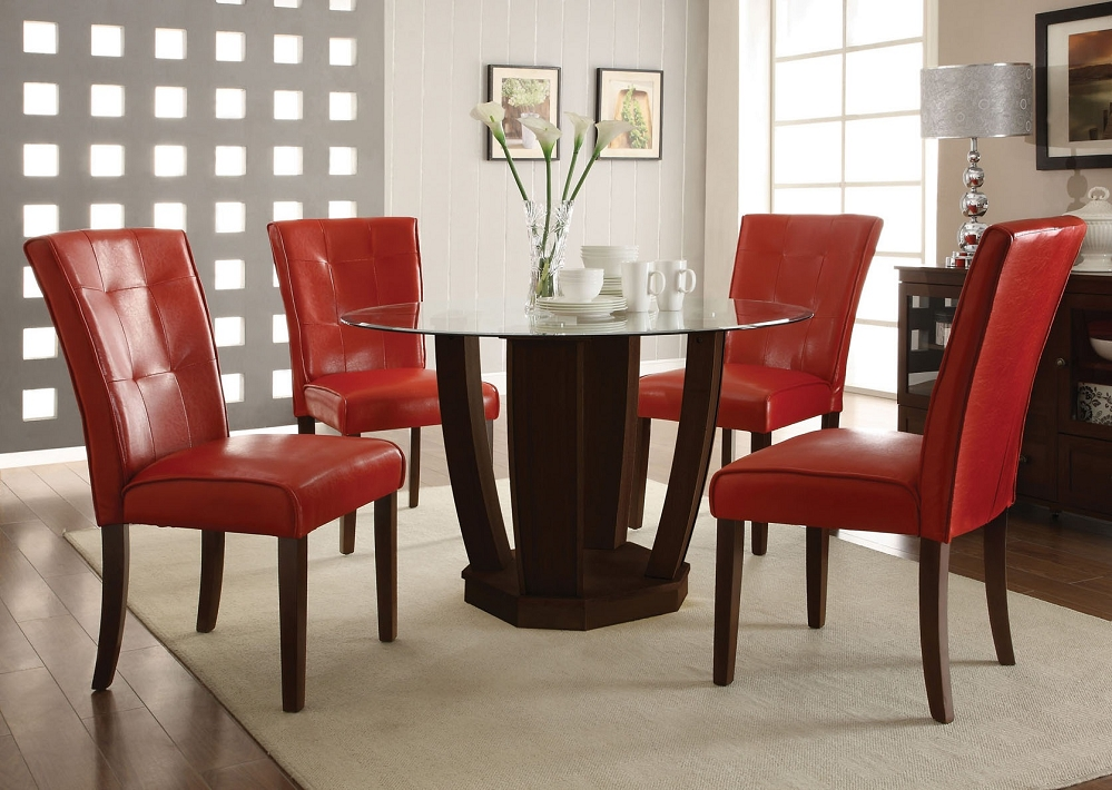 Brilliant Red Dining Room Chairs Red Leather Dining Table Chairs Dining Chairs Design Ideas