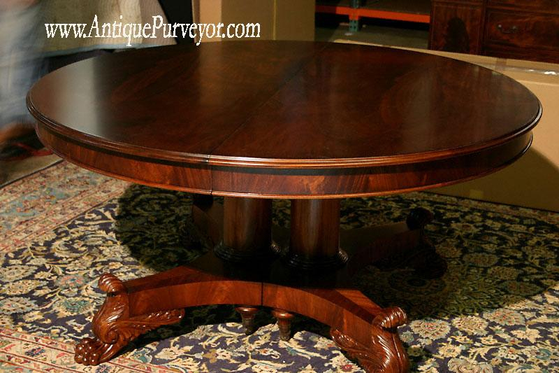 Brilliant Round Dining Room Table With Leaf Creative Of Round Dining Room Table With Leaf Round Mahogany