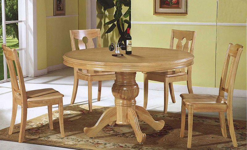 Brilliant Round Solid Wood Dining Table Round Wood Dining Table Sets Insurserviceonline