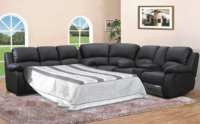 Brilliant Sectional Sleeper Sofa With Recliners Leather Sectional Sleeper Sofa Recliner Tourdecarroll