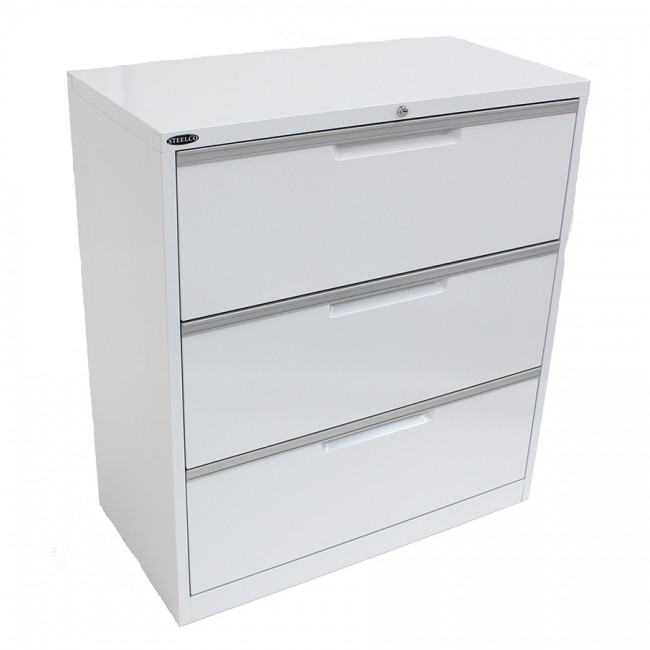 Brilliant Shallow File Cabinet Steelco 3 Drawer Lateral Filing Cabinet My Office Solutions