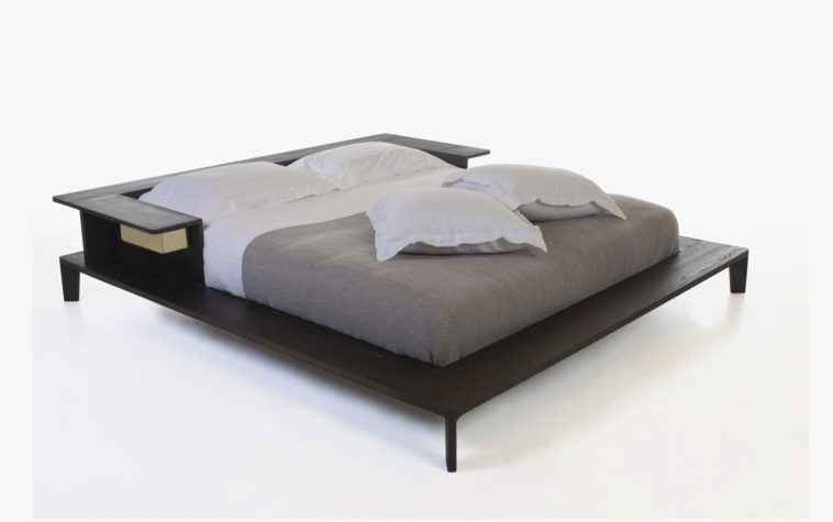 Brilliant Simple Queen Size Bed Frame Furniture Platform Queen Size Bed Using White And Grey Bedding As