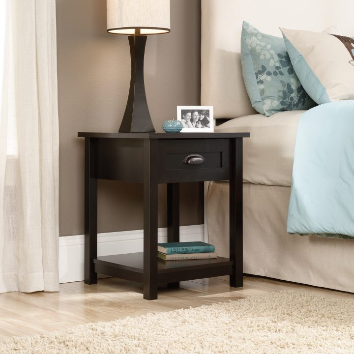 Brilliant Small Bedroom End Tables Nightstand Dazzling Nightstand Black Kane S Furniture