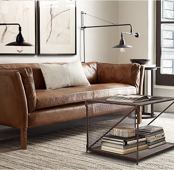 Brilliant Small Brown Leather Sofa Best 25 Small Leather Sofa Ideas On Pinterest Brown Leather