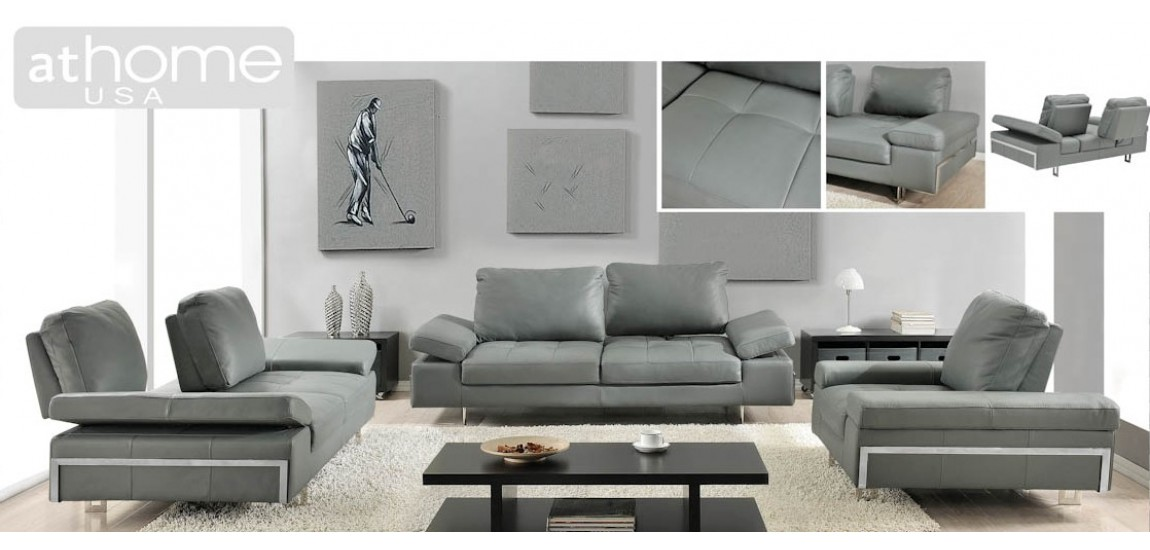 Brilliant Sofa Loveseat Chair Sets Grey Leather Sofa And Loveseat Gia Light Grey Full Italian Modern