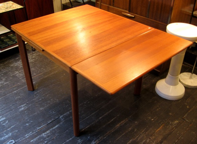 Brilliant Square Dining Table With Leaves Square Teak Draw Leaf Dining Table Sold White Trash Nyc