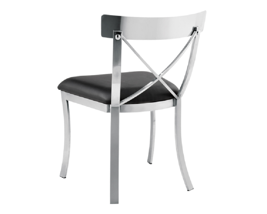 Brilliant Steel Dining Chairs Steel X Back Dining Chair British Home Emporium Bhe Studio