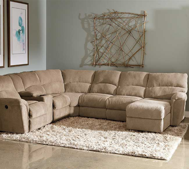 Brilliant Tan Sectional With Chaise Sectional Recliner Sofas Leather Reclining Sofa Ashley Furniture